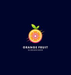 logo fresh orange gradient colorful style vector image