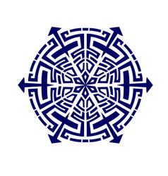 Mandala geometry dark blur vector