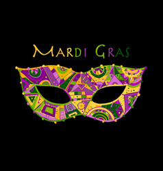 mardi gras holiday greeting card design with vector image