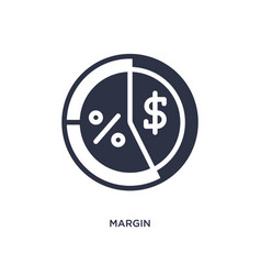 Margin icon on white background simple element vector