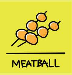 Meatball hand-drawn style vector