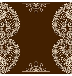 Mehndi frames vector image