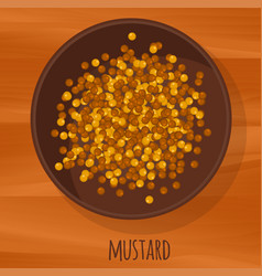 mustard seeds flat design icon vector image