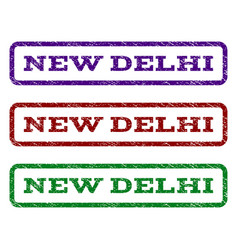 new delhi watermark stamp vector image
