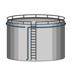 Oil storage tankoil single icon in cartoon style vector