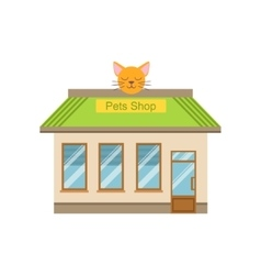 Pet Shop Commercial Building Facade Design vector