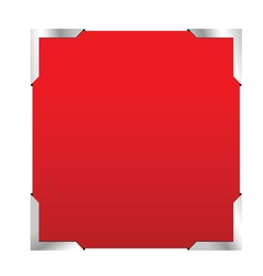 photo frame red color vector image