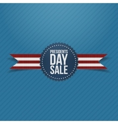 Presidents Day Sale round Label and Ribbon vector