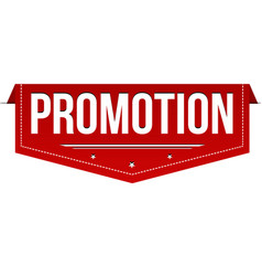 promotion banner design vector image