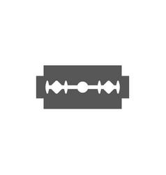 Razor blade icon silhouette design vector