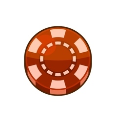 Red Casino Poker Chip Isolated on White Background vector image