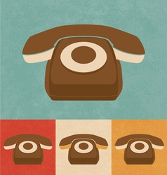 Retro Phone Icon vector image