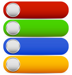 rounded bright buttons white blank space in vector image