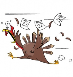Scared turkey vector
