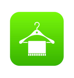 Scarf on coat hanger icon digital green vector