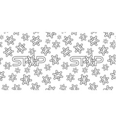 Seamless pattern with viruses vector