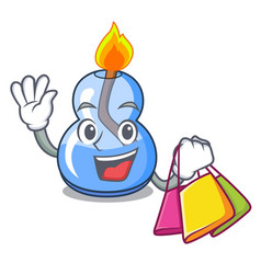 Shopping alcohol burner character cartoon vector