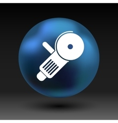 Simple icon angle grinder electro work vector image