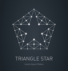 Star logo Modern stylish design element with vector image