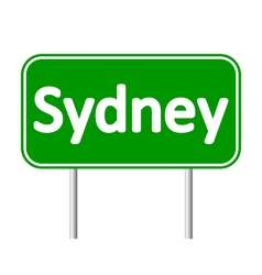 Sydney road sign vector image vector image