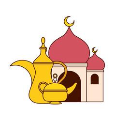 taj mahal tea pot vector image
