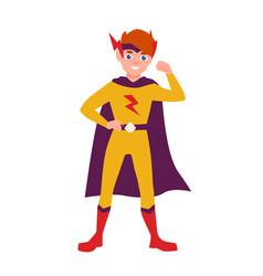 teenage superhero superboy or superkid standing vector image