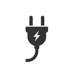 the plug icon electric symbol flat vector image