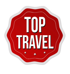 Top travel label or sticker vector