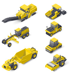 Transport for laying and repair asphalt vector