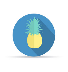 tropical fruit pineapple vector image