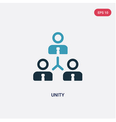 Two color unity icon from political concept vector