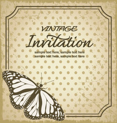 Vintage invitations vector image