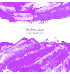 violet purple watercolor brush strokes texture vector image