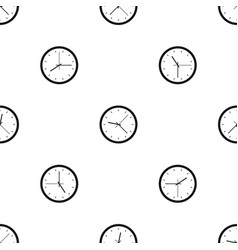 wall clock pattern seamless black vector image