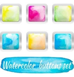 watercolor colorful buttons vector image