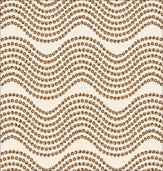 Wave ornament brown palette vector image