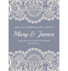 wedding invitation template vector image