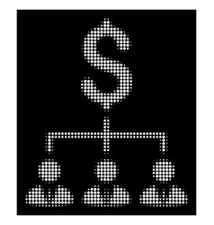 white halftone banker links icon vector image