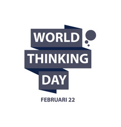World thinking day template design vector