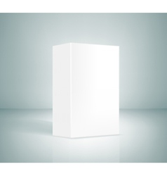 Blank White Box vector image vector image