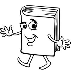 book cartoon coloring page vector image vector image