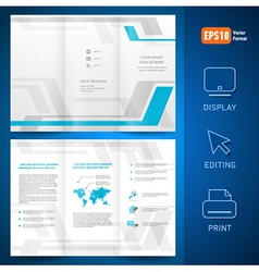 brochure design template folder leaflet geometric vector image