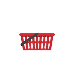 Empty shopping basket icon isolated vector image vector image