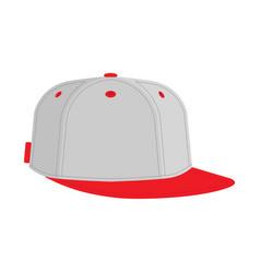 hip hop or rapper baseball cap vector image vector image