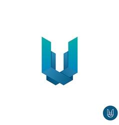 Letter U logo vector image vector image