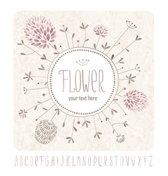 Meadow flowers and alphabet vector image vector image