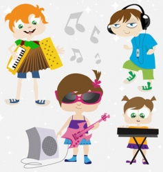 music kids vector image vector image