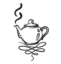 Teapot hand drawn Teapot icon vector image vector image