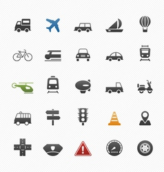 transport symbol icon set vector image