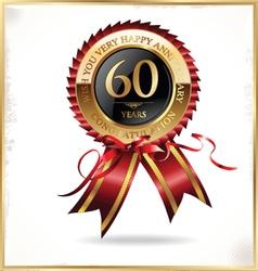 60 years anniversary label vector image
